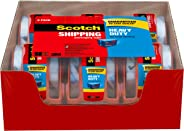 Scotch Heavy Duty Shipping Packaging Tape,  6 Rolls with Dispenser, Clear, 1.88 inches x 800 inches, 1.5 inch Core, Great fo