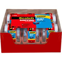 """Scotch Tape Heavy Duty Shipping Packaging Tape, 1.88 Inches x 800 Inches, 1.5"""" Core, Clear, Great for Packing, Shipping & Moving, Rolls with Dispenser"""