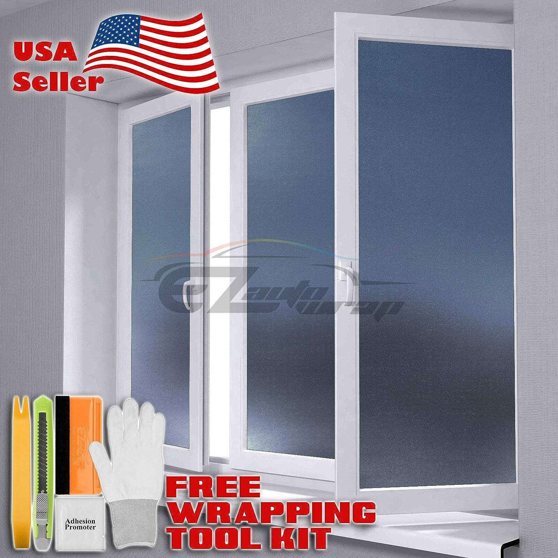 "48/""x108/"" Orange Frosted Film Glass Bathroom Window Security Privacy Sticker"