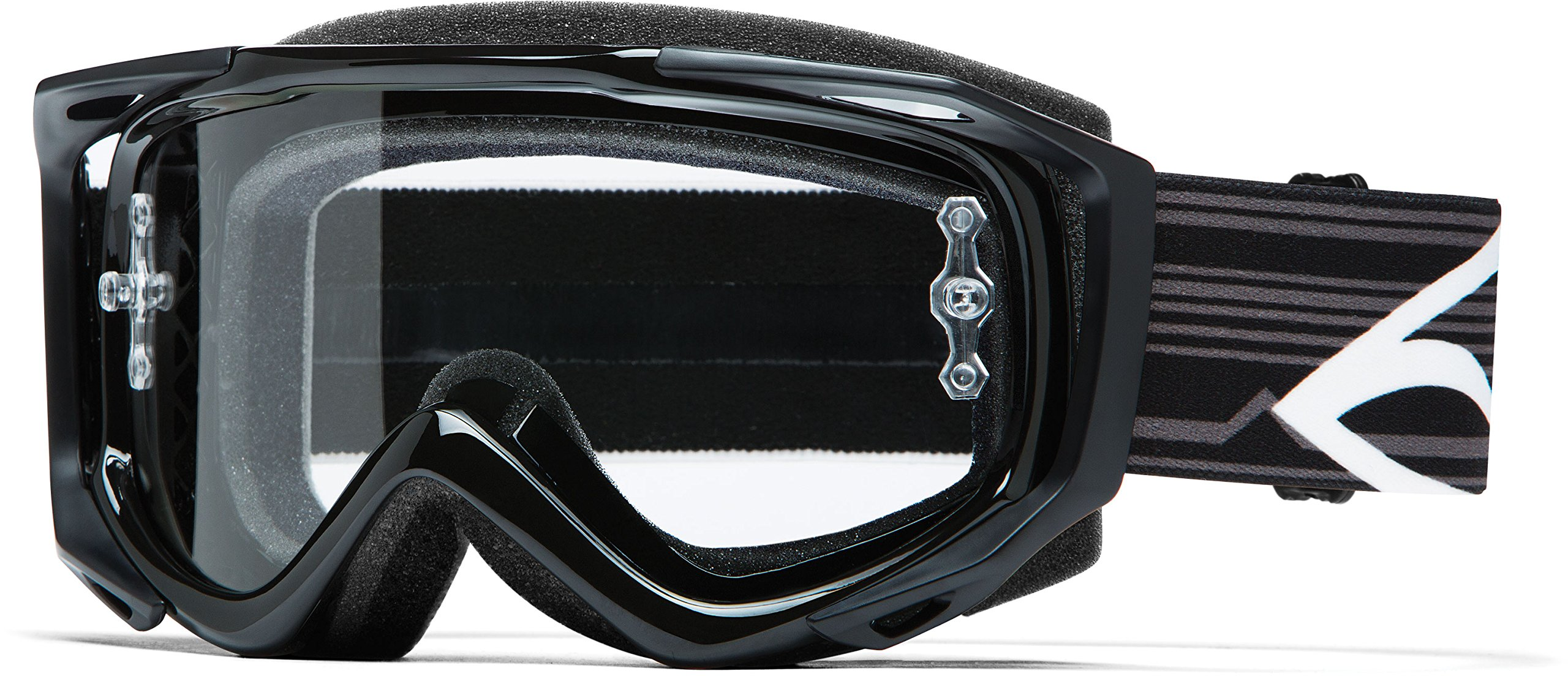 Smith Optics Fuel v.2 Sweat X R Motocross Goggles (Black Frame/Clear Lens)