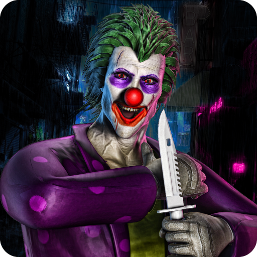 City Clown Attack Survival Simulator 3D: Five Night In Creepy Clown Attack Horror House Adventure Games Free For Kids 2018
