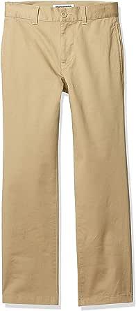 Amazon Essentials Straight Leg Flat Front Uniform Chino Pant Pants, Caqui, 6(S)
