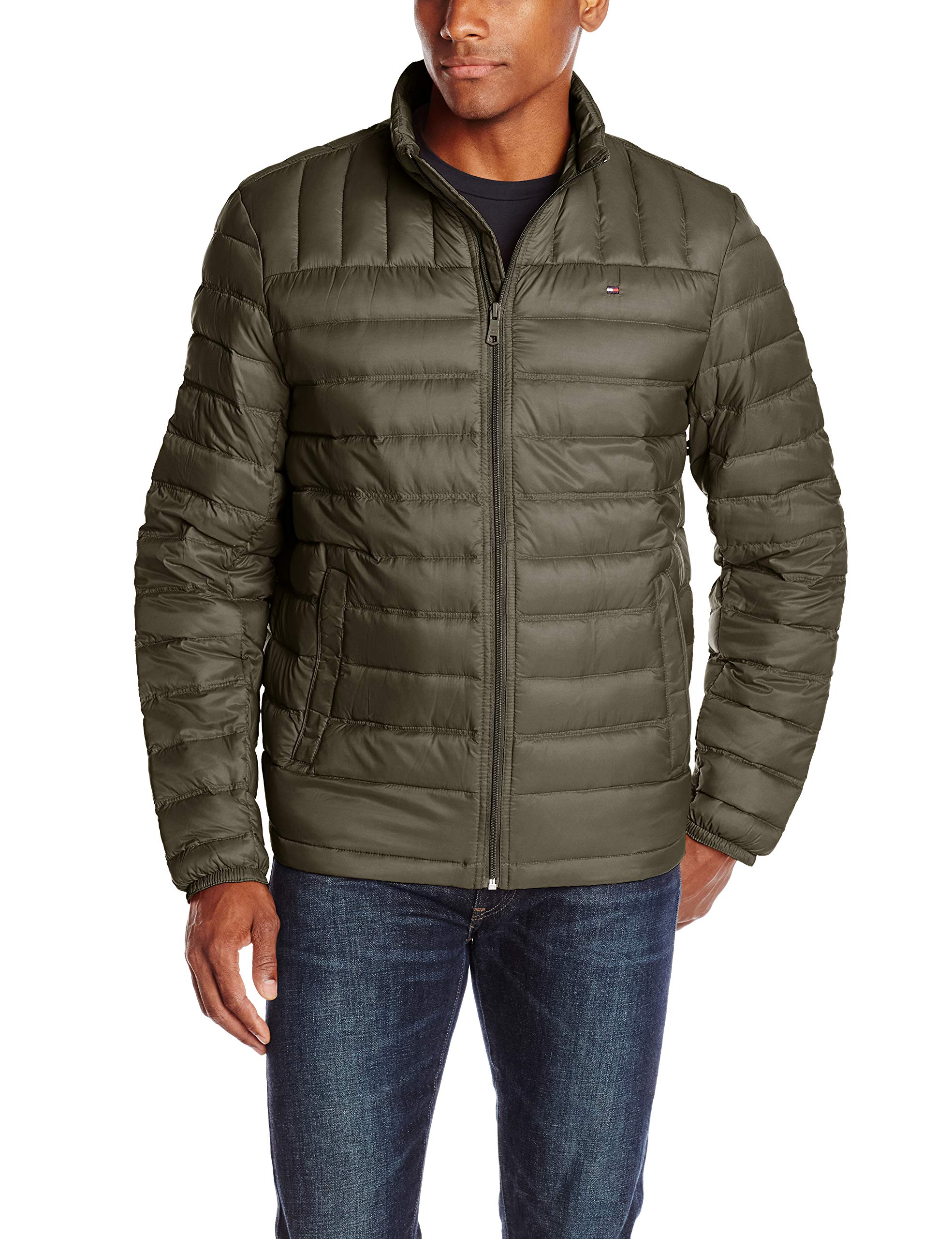 Tommy Hilfiger Men's Packable Down Jacket (Regular and Big & Tall Sizes), Olive, 2X TALL