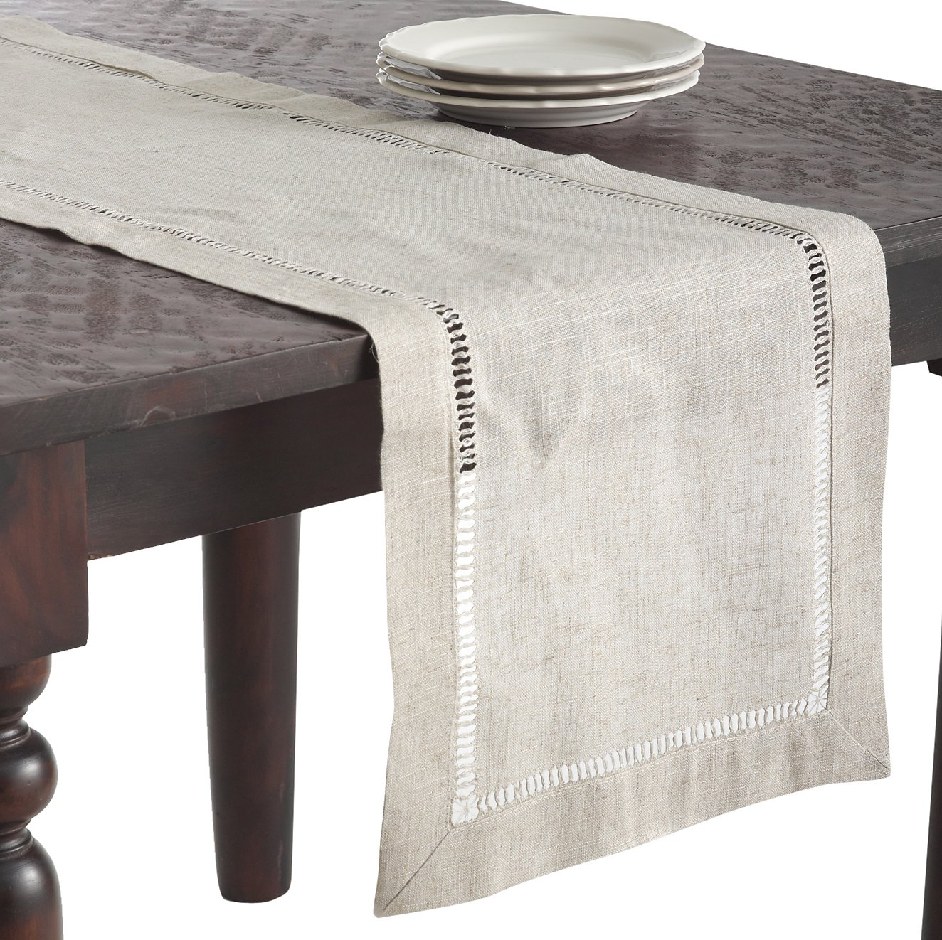 1 Piece SARO LIFESTYLE 731.N40S Toscana Square Tablecloth 40 Natural 40