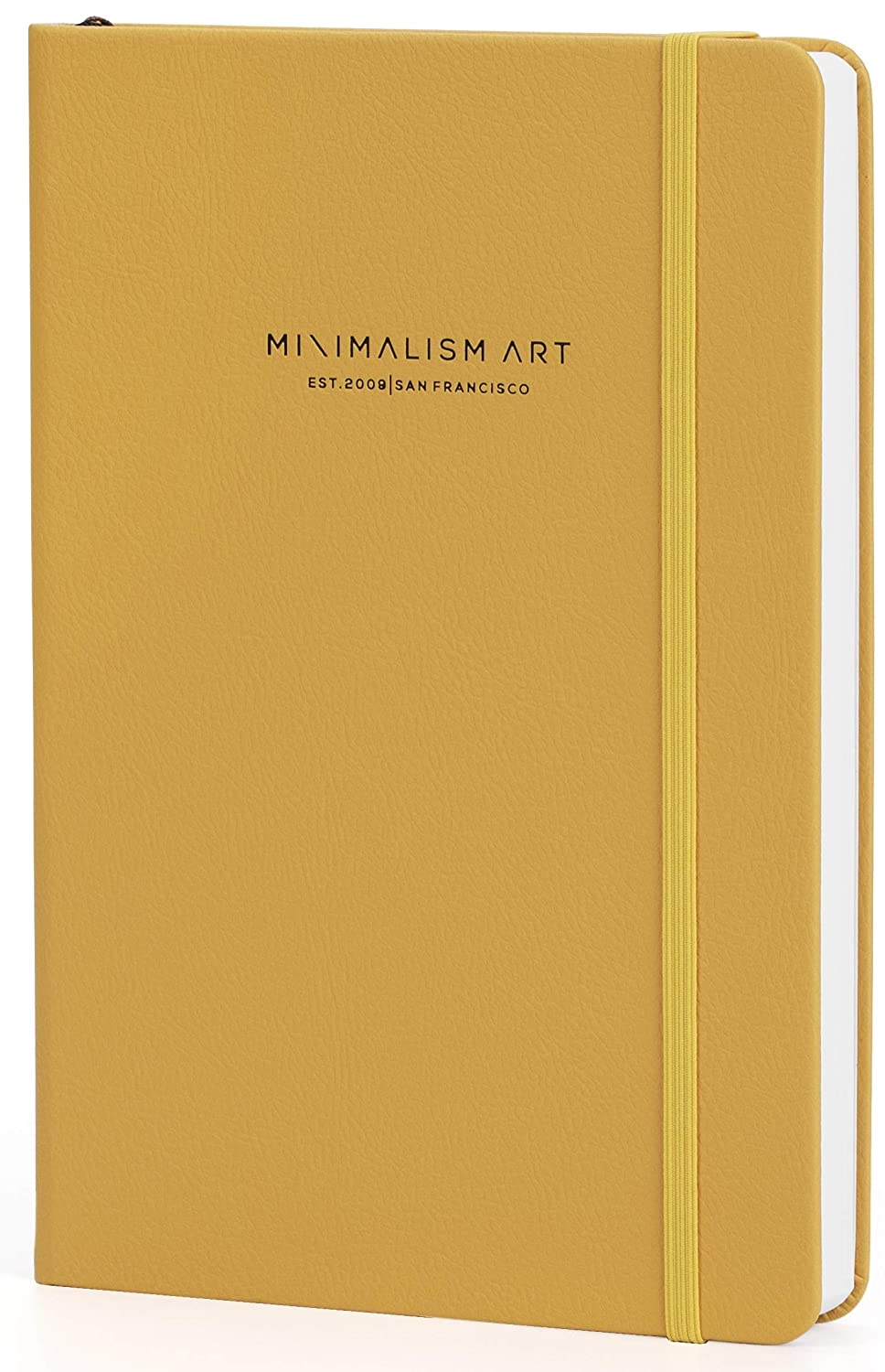 Hard Cover-Golden Yellow-234NumberedPages-GussetedPocket-Ribbon Bookmark-Ink-ProofPaper120gsm Premium Edition Notebook Journal Minimalism Art San Francisco A5 5.8x8.3-4 Rulings in 1