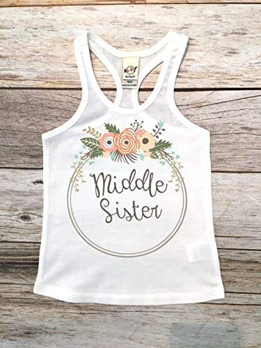 Amazon Com Middle Sister Sibling Shirts Sister Shirt Pregnancy