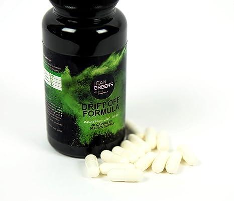 Citrato de magnesio, citrato de zinc, vitamina B6: Drift Off Formula de Lean Greens. Deja de quedarte mirando al techo por la noche: Amazon.es: Salud y ...