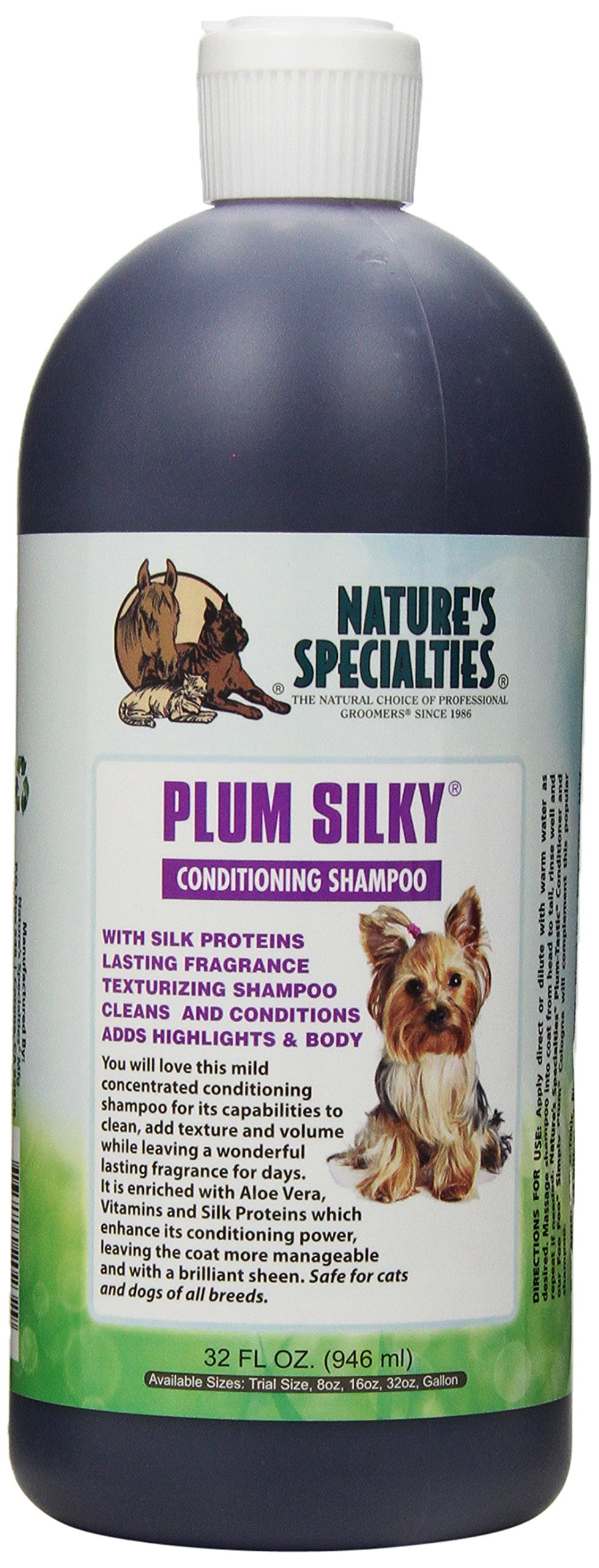 Nature's Specialties Plum Silky Pet Shampoo, 32-Ounce