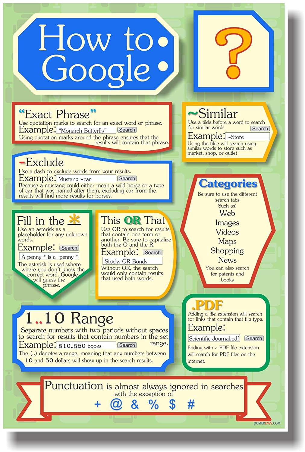 posters for office. Amazon.com: How To Google 2 - Search Engine New Classroom Computer Internet Technology Poster: Office Products Posters For