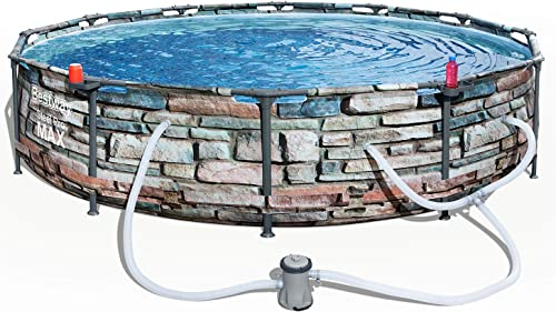 Bestway 56817E 12' x 30″ Steel Pro Max Round Above Ground Swimming Pool Kit