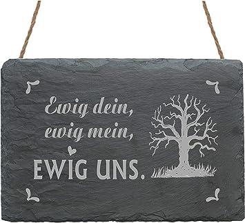 METALLSCHILD Blechschild ICH DEINS DU MEINS WIR EINS Hochzeit Liebe Valentinstag