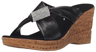 Women's Starr Flat Sandal Black 10 Medium US