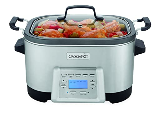Crock-Pot SCCPMC600-S 6-Quart Stainless Steel 5-in-1 Multi-Cooker with Non-Stick Inner Pot