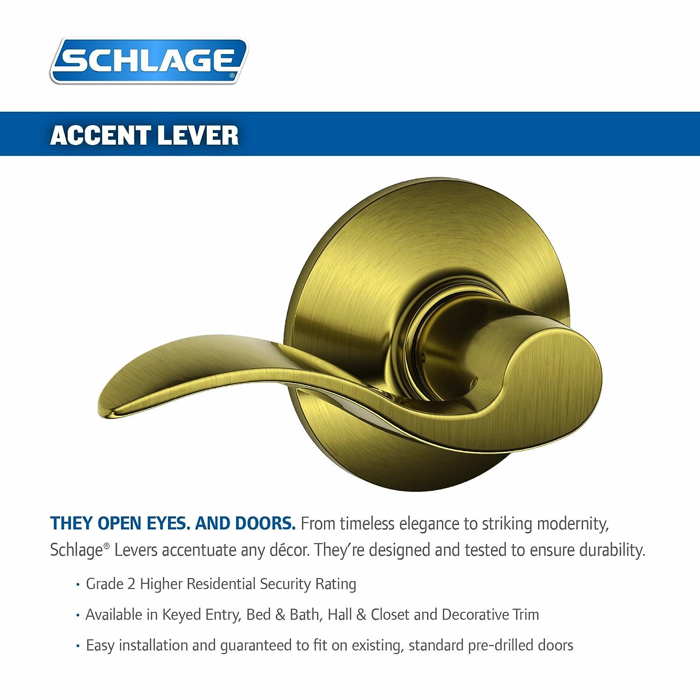 Amazon.com: Picaporte de entrada con llave Schlage Accent ...