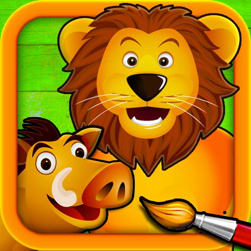 Sabana - Puzzles para Pintar - Dibujos para Colorear de los Animales para Niños: Amazon.es: Appstore para Android