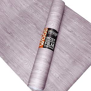 VViViD Light Vintage Wood Natural Texture Architectural Vinyl Sheet Film Roll (48 Inch x 25ft Bulk Roll)