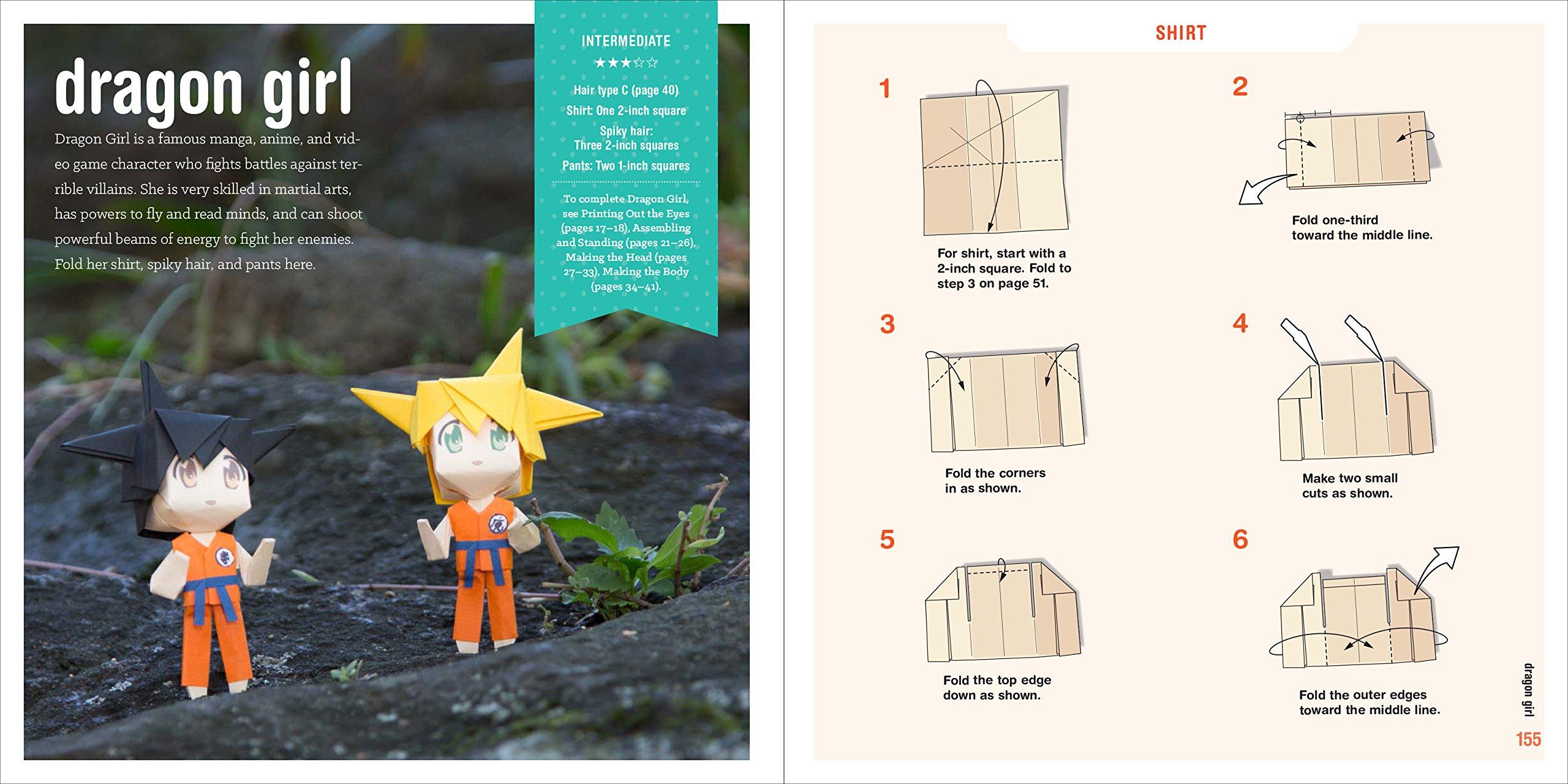 Manga Origami Easy Techniques For Creating 20 Super Cute Characters 3d Animation Diagrams Animated Diagram To Fold A Mrcio Hideshi Noguchi Seth Friedman 9781580934602 Books