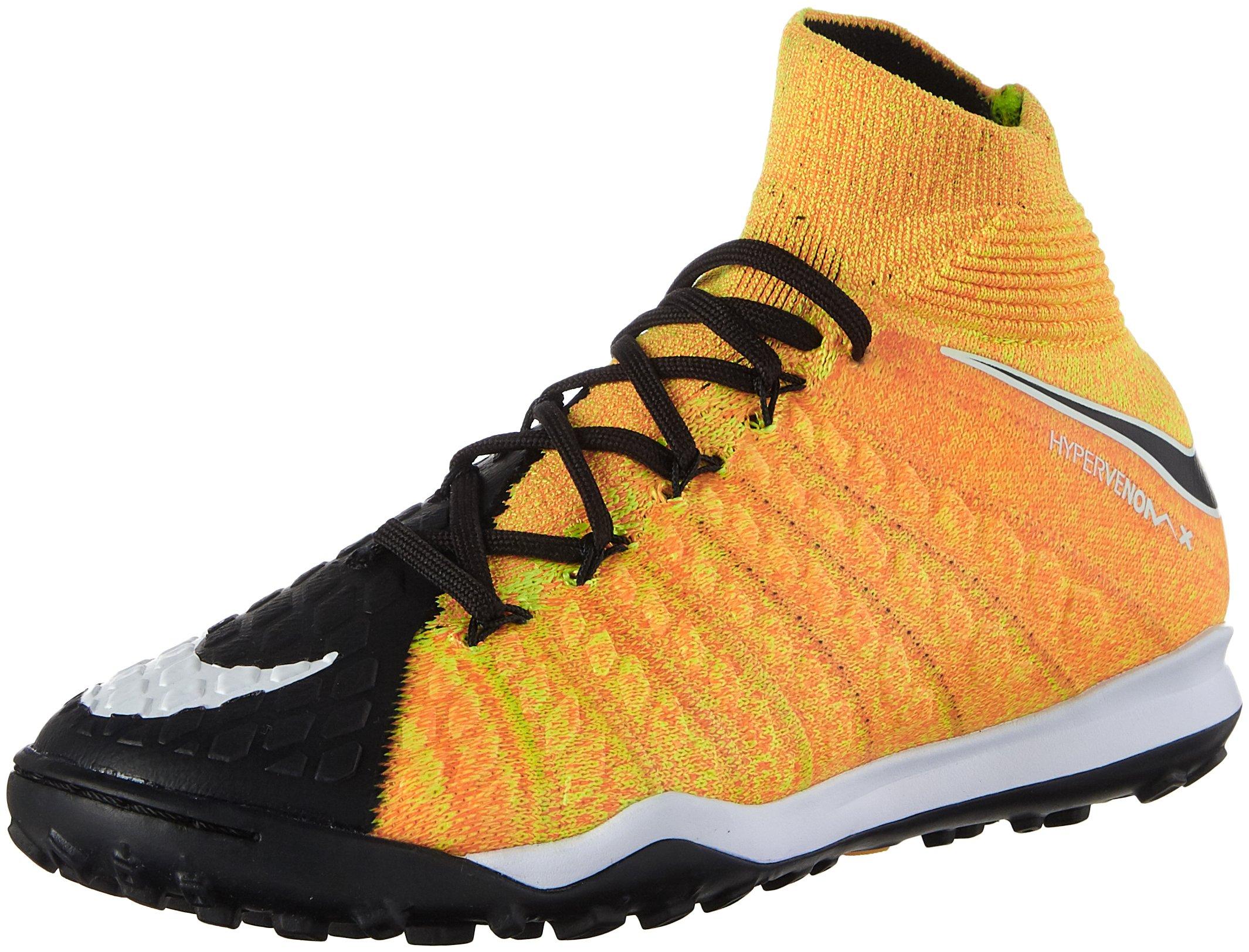Nike Junior Hypervenomx Proximo II DF TF Soccer Shoes (Laser Orange/Black) (5 Big Kid M)