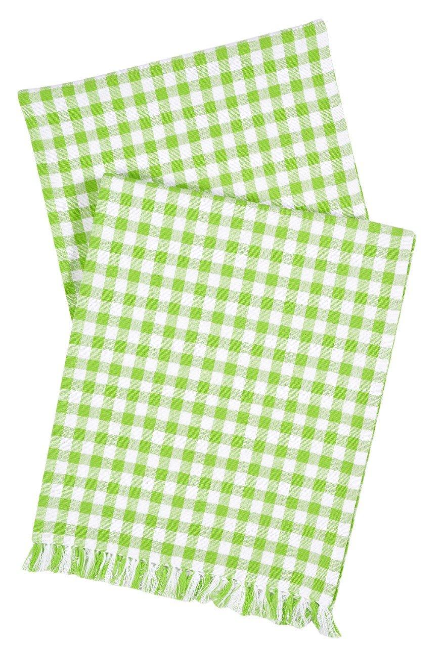 テーブルランナーグリーン、ホワイトギンガムチェック72 cmテーブルランナーグリーン   B06W9NXPB2