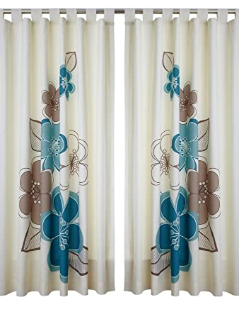 Candice Tab Top Curtains - Teal [Colour - teal]: Amazon.co.uk ...