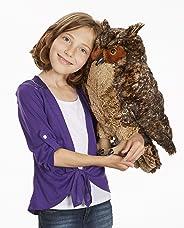 "Melissa & Doug Lifelike Plush Owl (Stuffed Animal & Plush Toy, Crafted With Care, Soft Fabric, 17"" H x 14"" W x 17"" L, Great G"