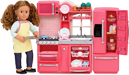 Fit For 18/'/'American Girl Doll Accessory Gourmet Kitchen Kids Toys Sliver Pot