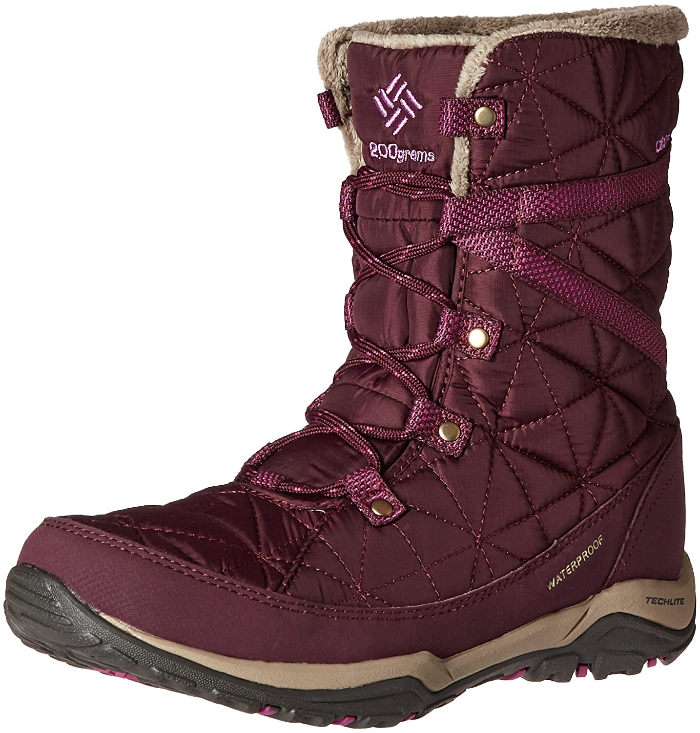 Columbia Women's Loveland Mid Omni-Heat Snow Boot B0183NVCES 6.5 B(M) US|Purple Dahlia/Northern Lights