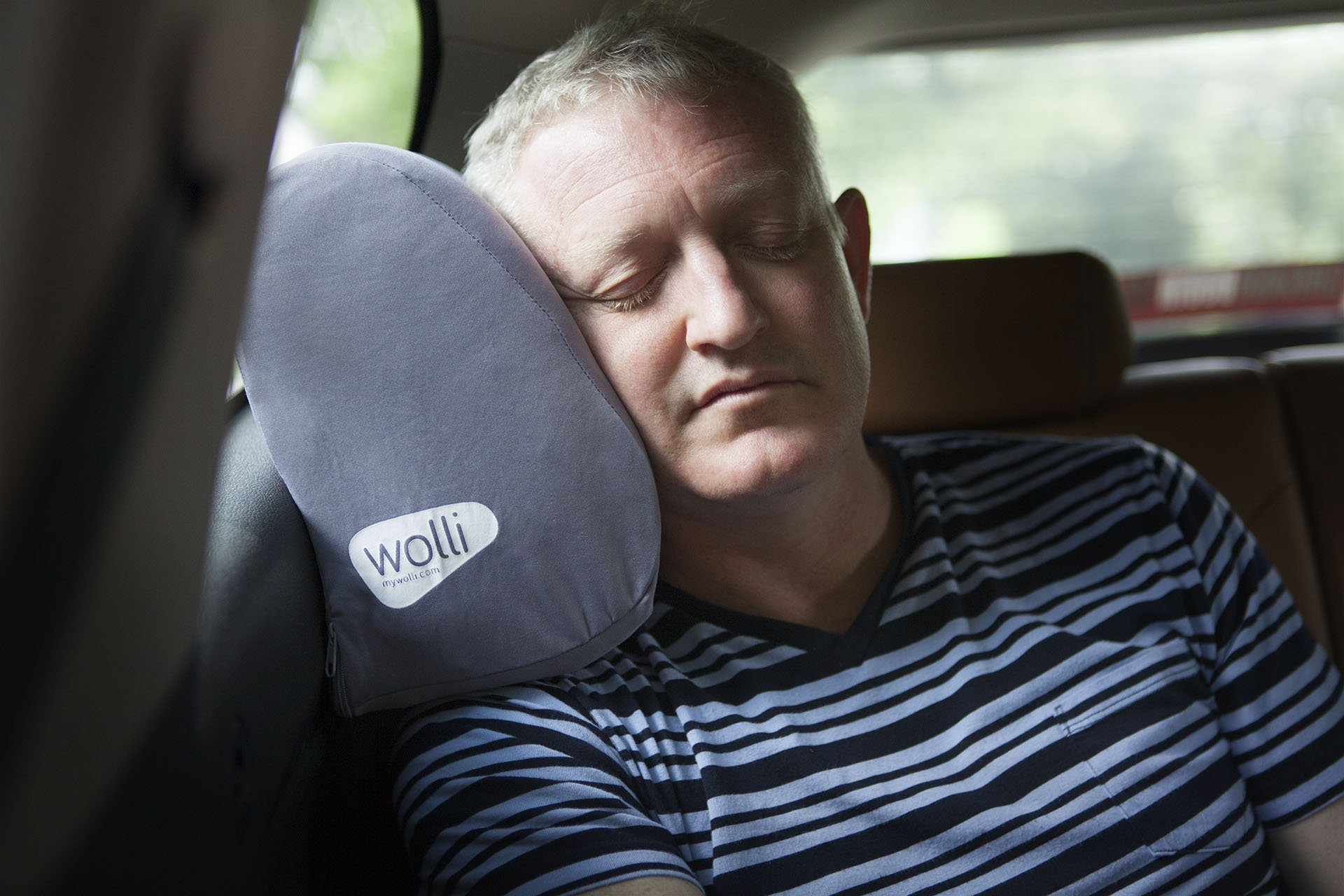 Wolli- The Window Seat Headrest Pillow - Perfect for Car, Train, and Airplane Travel (Gray)