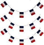 Banderín de 10 m con 20 banderas, para decoración de fiestas de celebración de la toma de la Bastilla en Francia