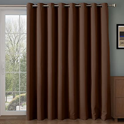 RHF Thermal Insulated Blackout Patio door Curtain Panel Sliding door curtainsvertical blinds & Amazon.com: RHF Thermal Insulated Blackout Patio door Curtain Panel ...