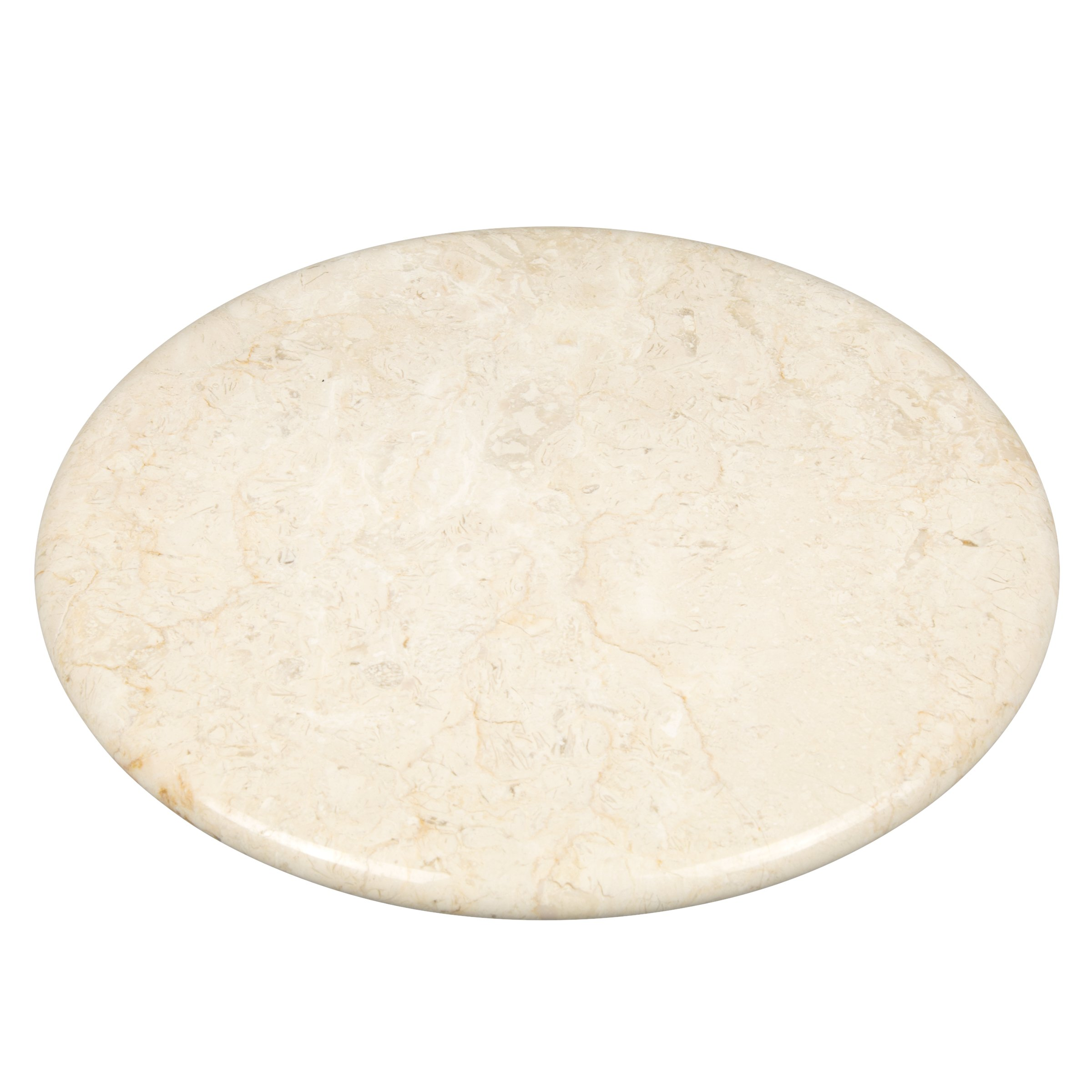Creative Home Natural Stone Champagne Marble 12'' Round Board, Cheese Platter, Serving Tray