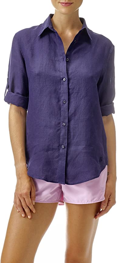 VILEBREQUIN - Camisa de Lino - Mujer - XL - Azul Marino ...