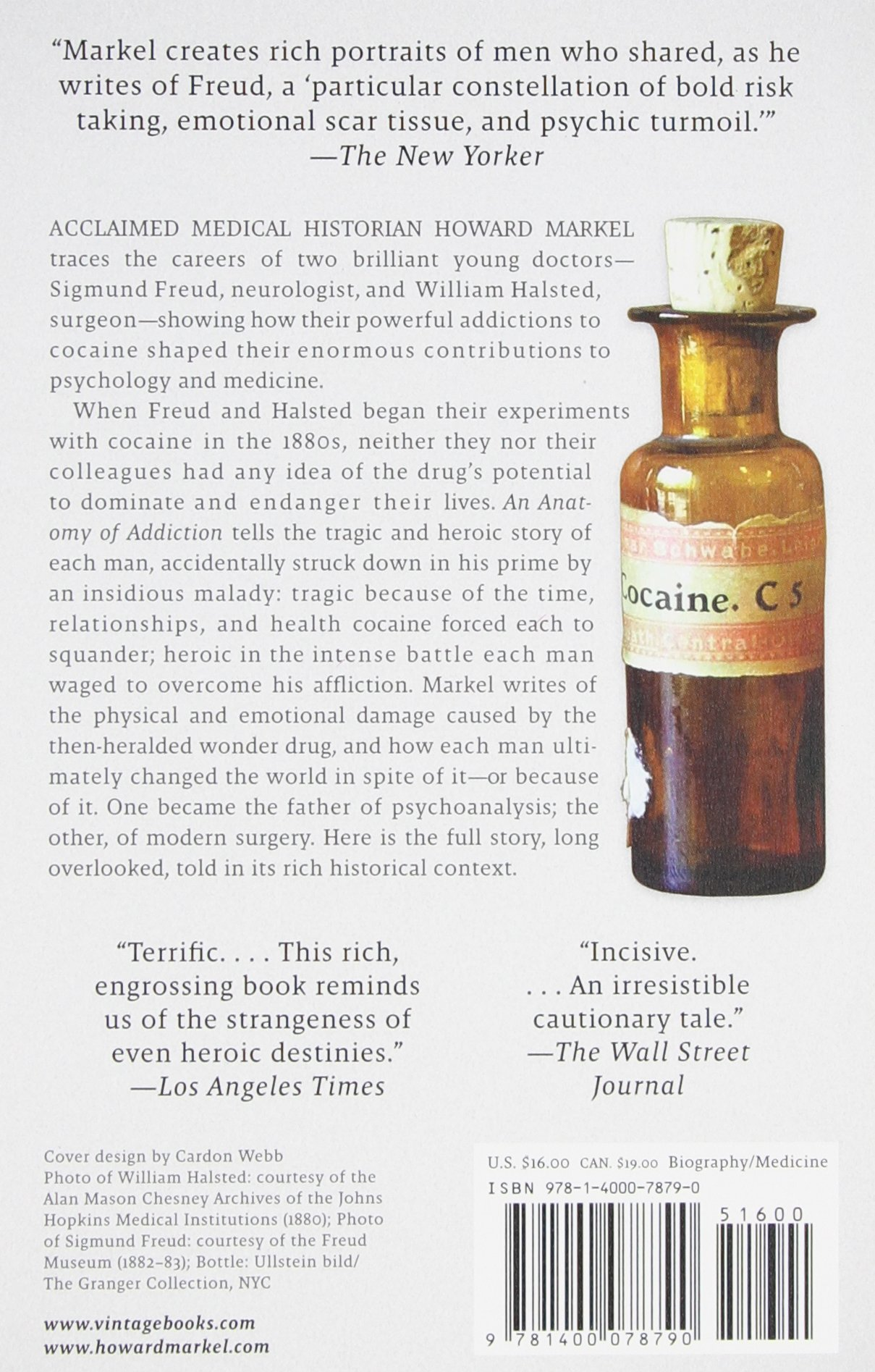 and the Miracle Drug Cocaine William Halsted Sigmund Freud An Anatomy of Addiction