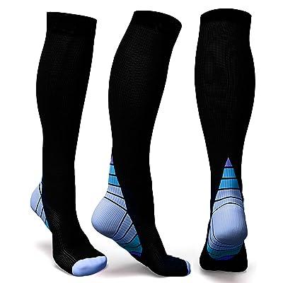 Rwest Calcetines de compresión Medias de compresión para Hombres y Mujeres, deporte, trotar, correr, volar, viajar, varicosas,embarazo y médicos, aumentar la circulación sanguínea, la regeneración.