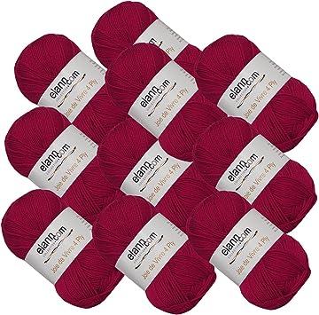 03 King Crimson 10 Ball Bag elann Joie de Vivre 4 Ply Yarn