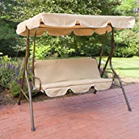 Coral Coast Ginger Cove 2 Person Adjustable Tilt Canopy Metal Swing (Light Bronze)