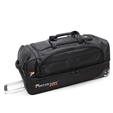 Pathfinder Gear 32 Inch Rolling Drop Bottom Duffel , Black, One Size
