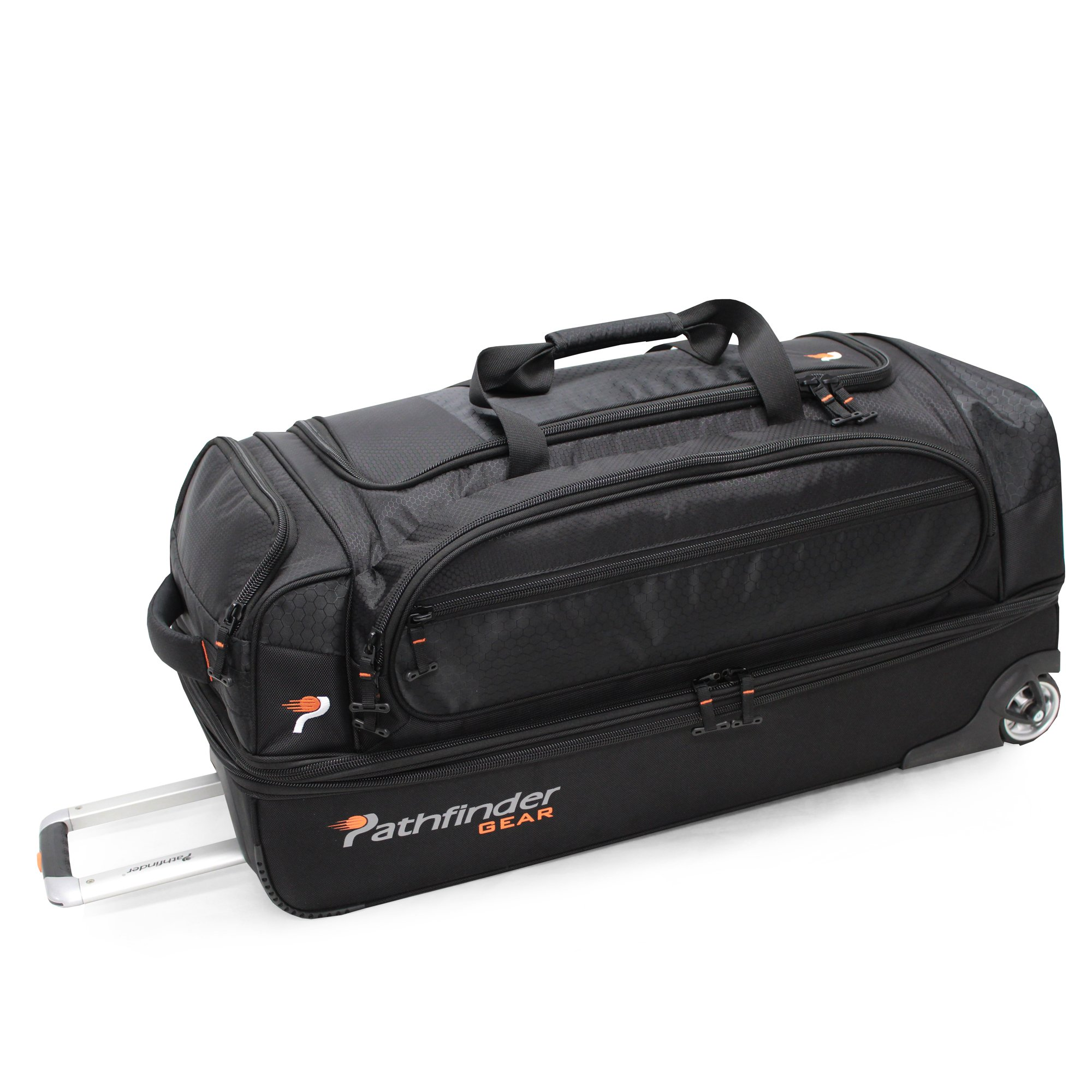Pathfinder Gear 32 Inch Rolling Drop Bottom Duffel , Black, One Size