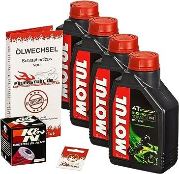 Motul 10w 40 Öl K N Ölfilter Für Yamaha Xvs 1100 Drag Star Classic 99 07 Vp05 Vp16 Ölwechselset Inkl Motoröl Filter Dichtring Auto