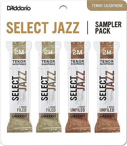 D'Addario Select Jazz Tenor Saxophone Reed Sampler Pack