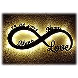 Luce Regali di nozze Amore infinito Regalo Anniversario Matrimonio con Nome per Ragazza Ragazzo Donna per l'anniversario per lei lui San Valentino