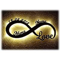 Luce Regali di nozze Amore infinito Regalo Anniversario Matrimonio con Nome per Ragazza Ragazzo Donna per l'anniversario per lei lui San Valentino Ti Amo