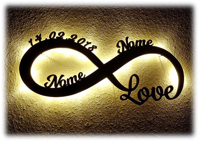 Luce Regali Di Nozze Amore Infinito Regalo Anniversario Matrimonio Con Nome Per Ragazza Ragazzo Donna Per L Anniversario Per Lei Lui San Valentino Ti
