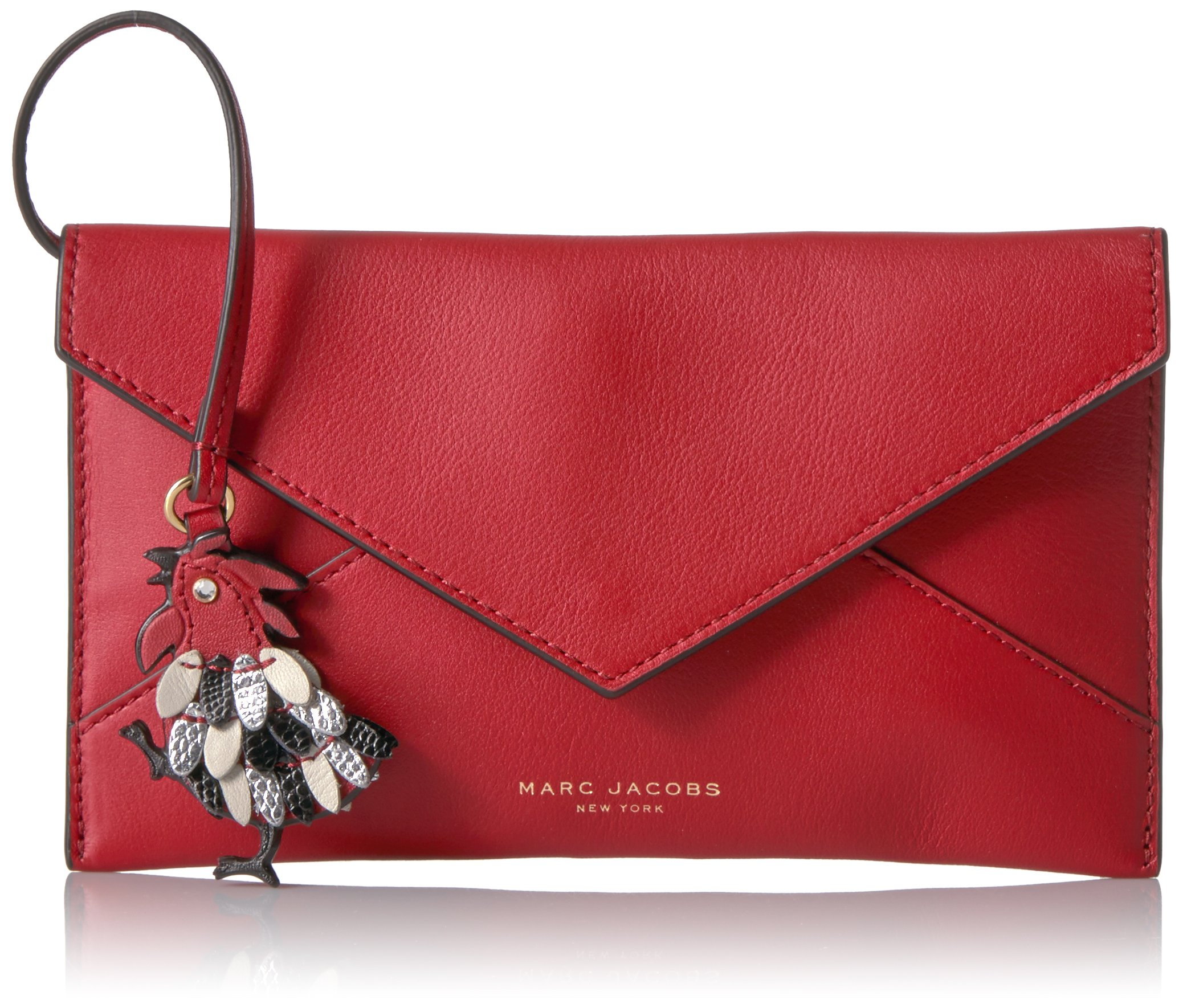 Marc Jacobs Women's Rooster Envelope Coin Purse, Scarlet, One Size by Marc Jacobs