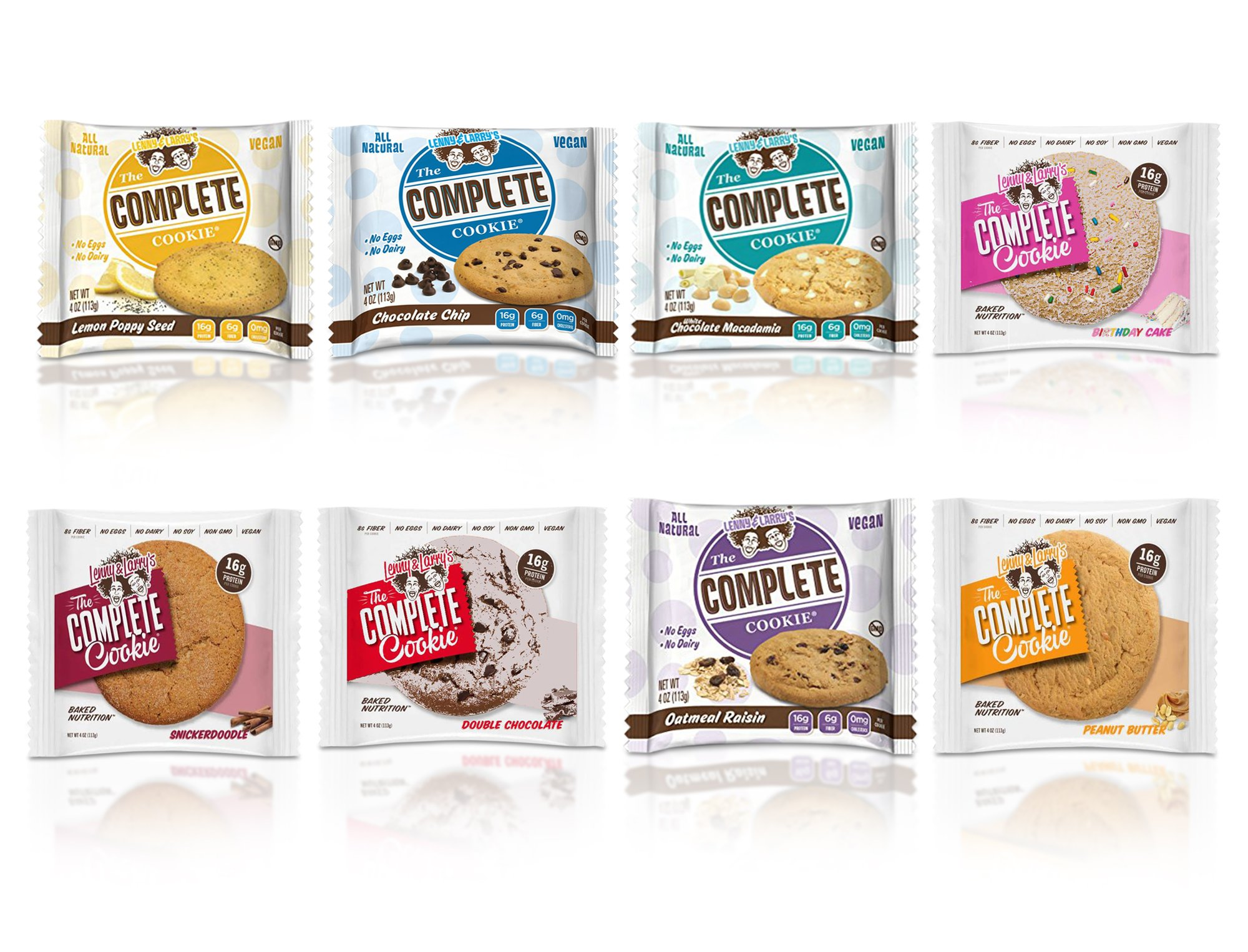 Lenny & Larry's Cookie 8 Flavor Variety With New Flavors - 8 Pack, One of Each Flavor by Lenny & Larry's (Image #1)