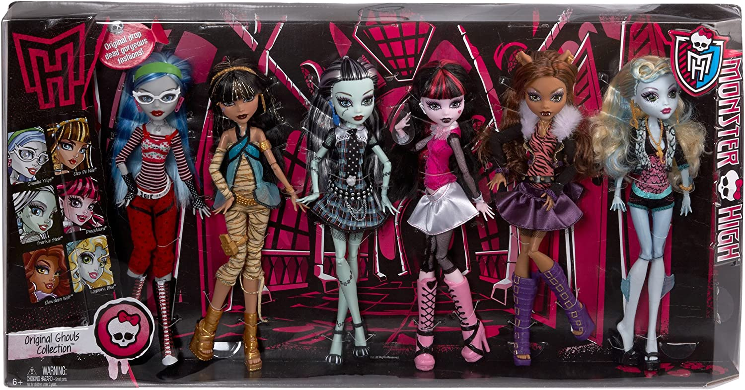 Amazon Com Monster High Dolls Original Ghouls Collection Toys Games