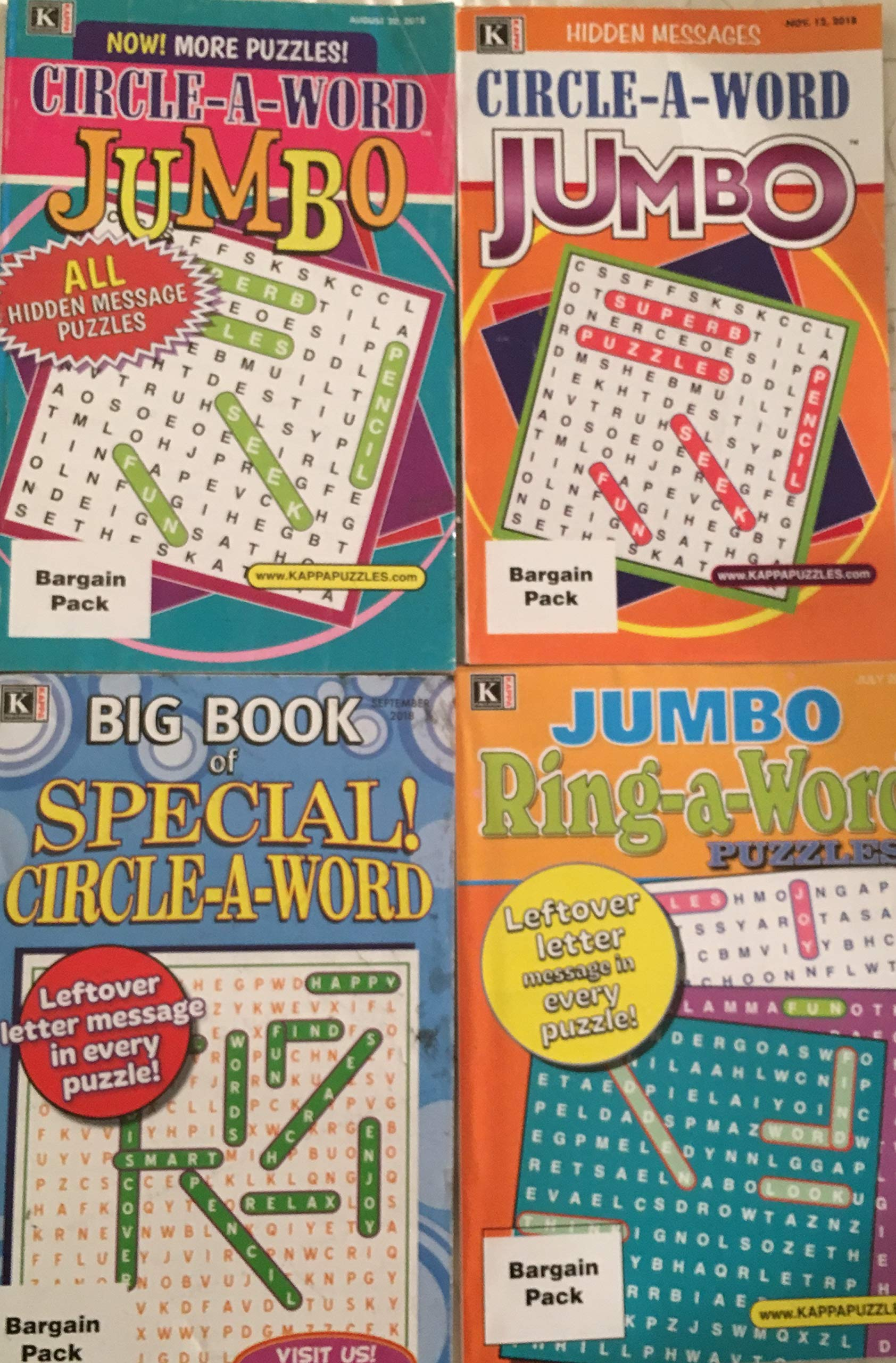 b448ffaa9f Lot of 4 Kappa Superb Ring-A-Word Circle-A-Word Jumbo Leftover ...