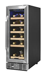 NewAir AWR-190SB Compact 19 Bottle Compressor Wine Cooler, Black/Stainless Steel