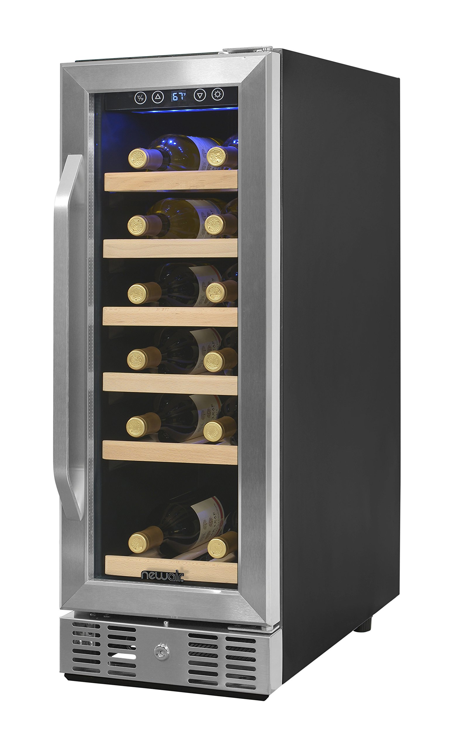 NewAir AWR-190SB Compact 19 Bottle Compressor Wine Cooler, Black/Stainless Steel