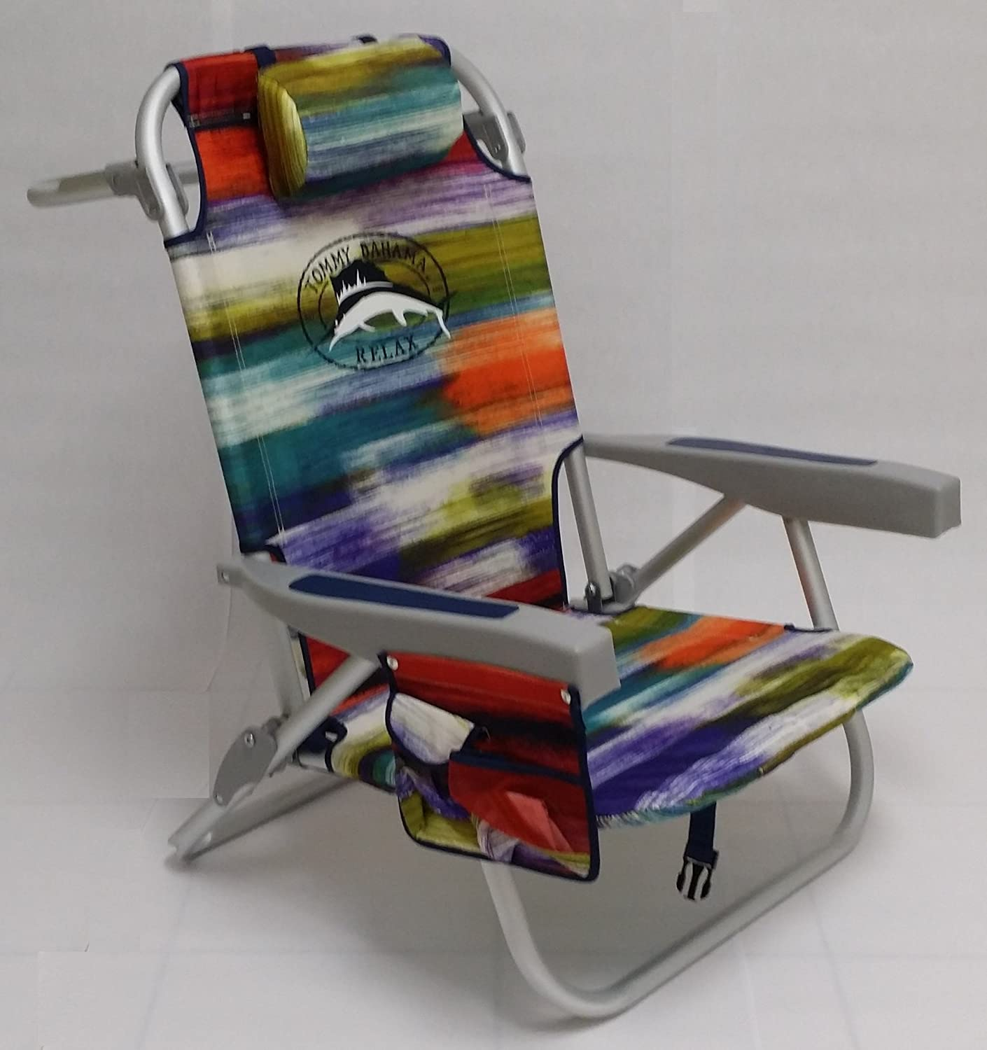 Tommy Bahama 2015 Backpack Cooler Chair with Storage Pouch and Towel Bar- multicolor